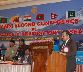 H.E. Dr. Sheel Kant Sharma, Secretary General of SAARC delivering his address during Inaugural Ceremony