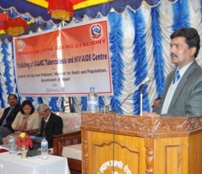 Dr. Kashi Kant Jha, Director, STAC delivering welcome speech