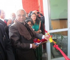 Cutting Ribbon for Inauguration
